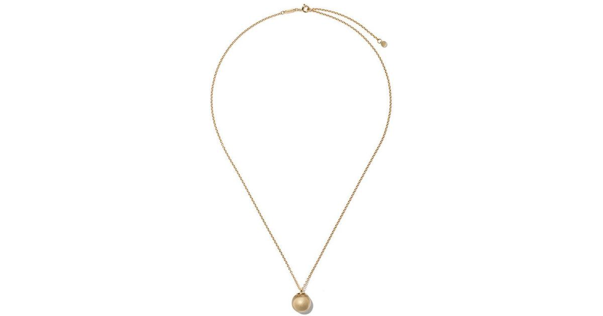 53bb7ad469ef Lyst - Tiffany   Co. 18kt Yellow Gold Tiffany City Hardwear Ball Pendant  Necklace in Metallic