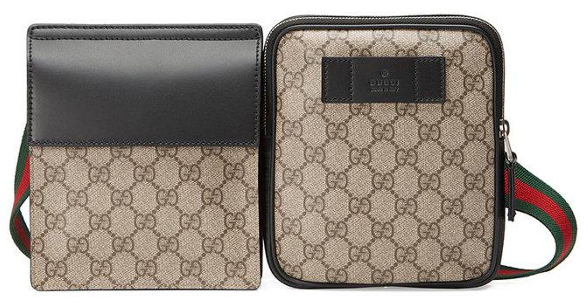 Lyst - Sac ceinture en toile Suprême GG Gucci pour homme b56aef0baac