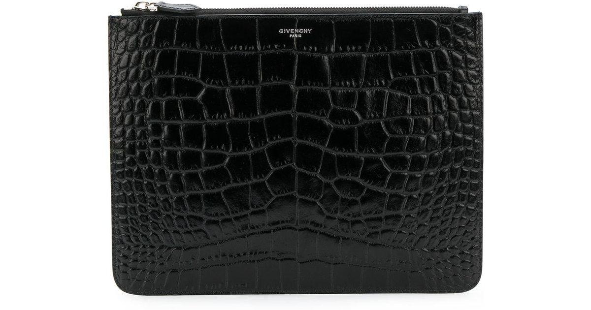 1f8d2624f1 Pochette à effet peau de crocodile Givenchy pour homme en coloris Noir -  Lyst