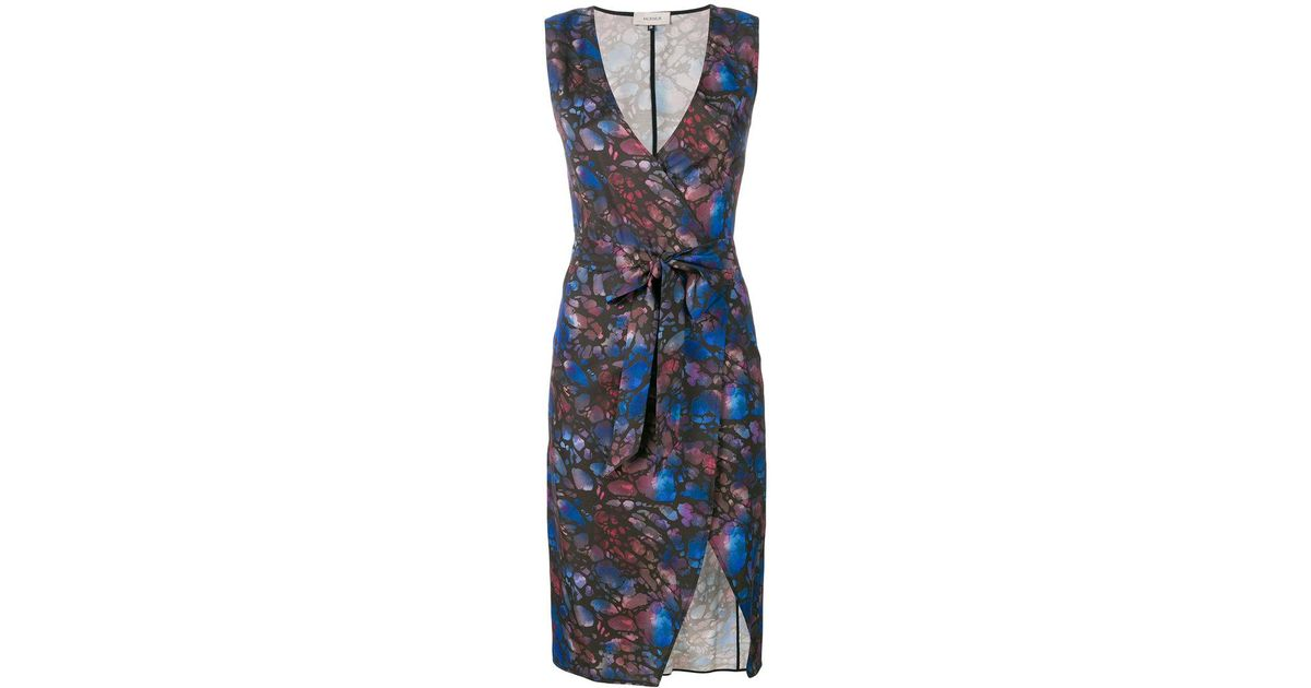 In China Online Clearance Best Prices print wrap shift dress - Brown Murmur Discount Get To Buy Buy Cheap With Credit Card Buy Online Authentic GR7bM