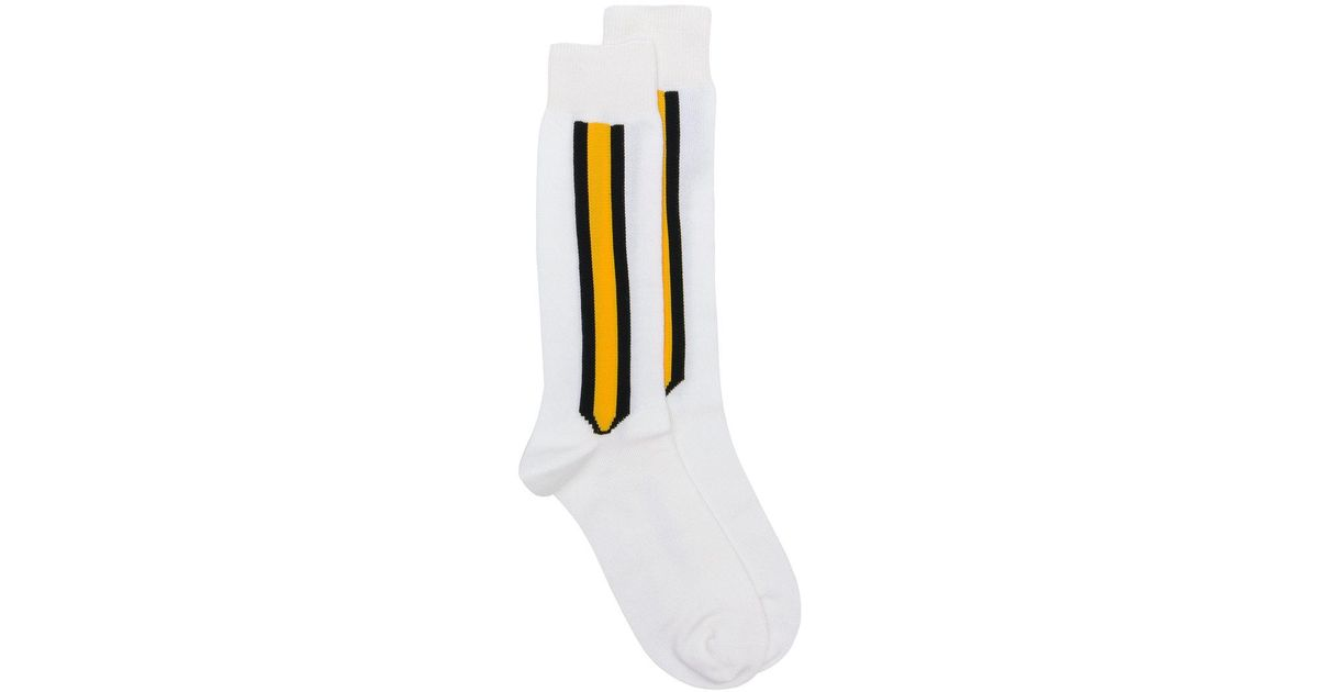 Black Intarsia Striped Socks CALVIN KLEIN 205W39NYC Cheap Real Sale Websites Cheap Perfect Visa Payment Cheap Online eQYFv