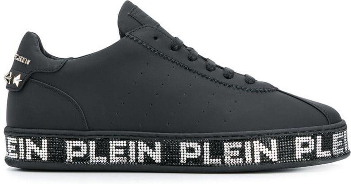 e868d0d5e4 Lyst - Philipp Plein Embellished Logo Sneakers in Black