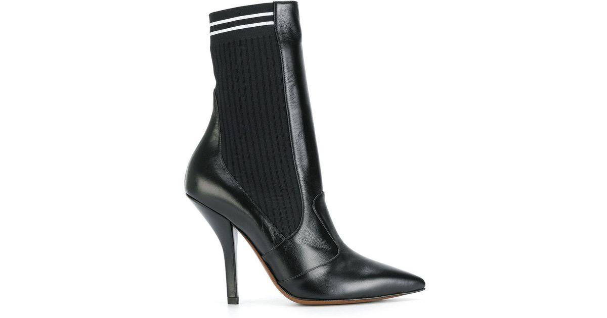 ribbed sock pumps - Black Fendi sgyzwpvc