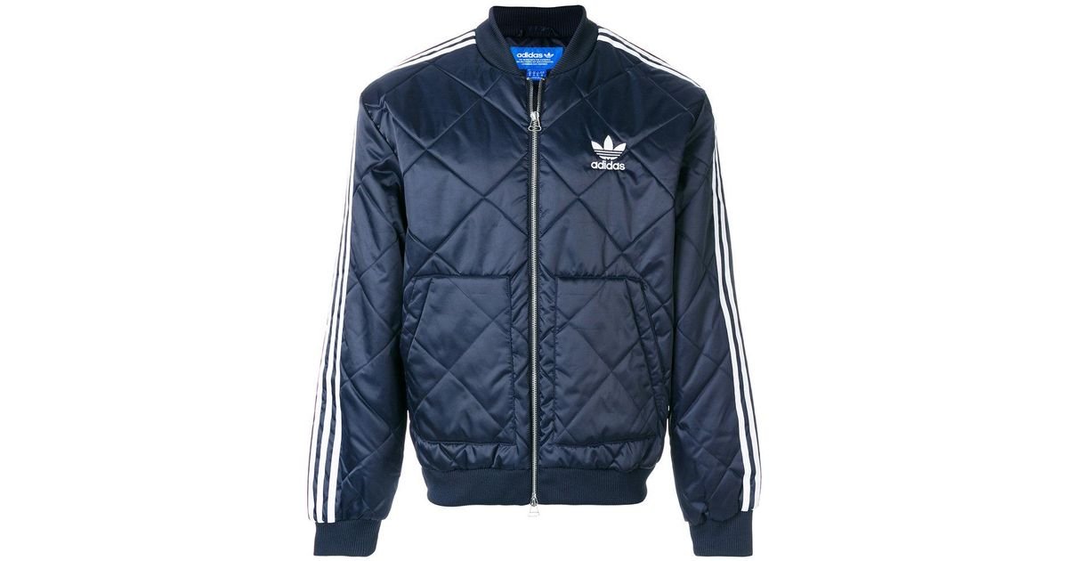 be9f1be58 Lyst - adidas Originals Sst Quilted Pre Jacket in Blue for Men