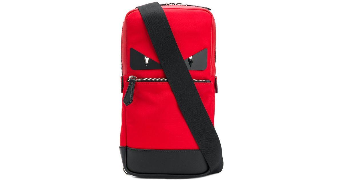 0e3972341561 Fendi Bag Bugs Crossbody Backpack in Red for Men - Lyst