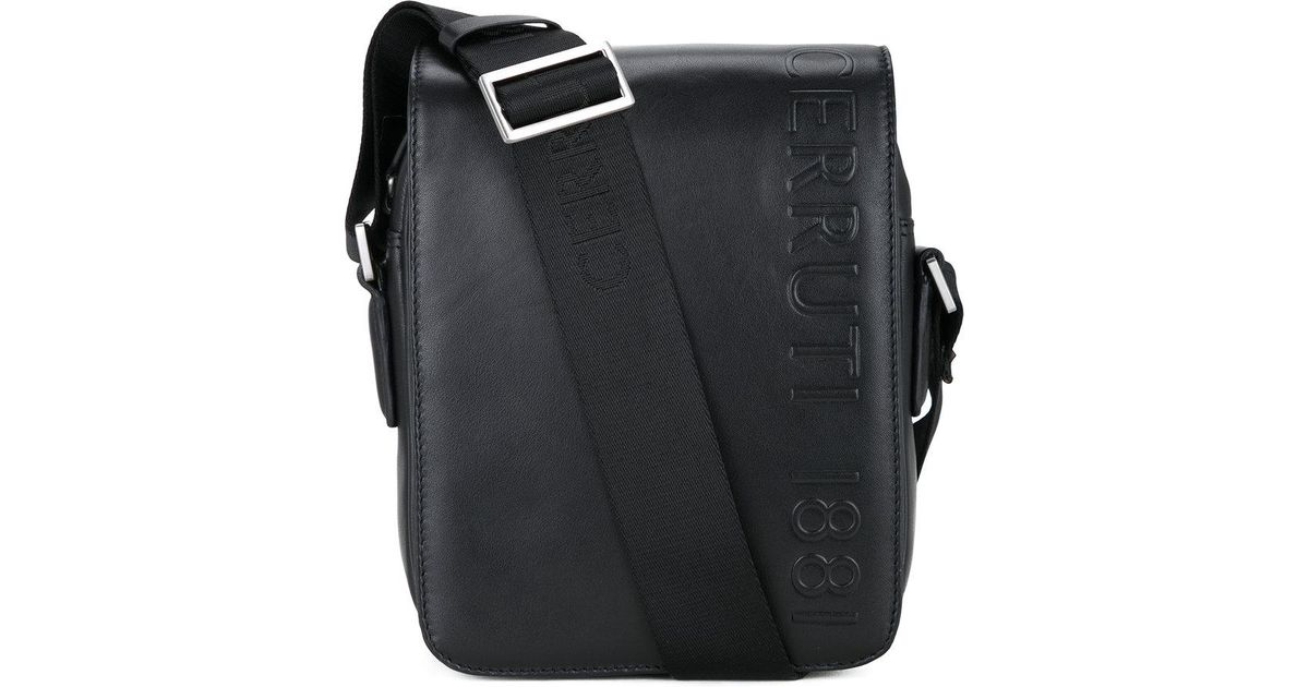 47f61bf5f6f Cerruti 1881 Embossed Tablet Bag in Black for Men - Lyst