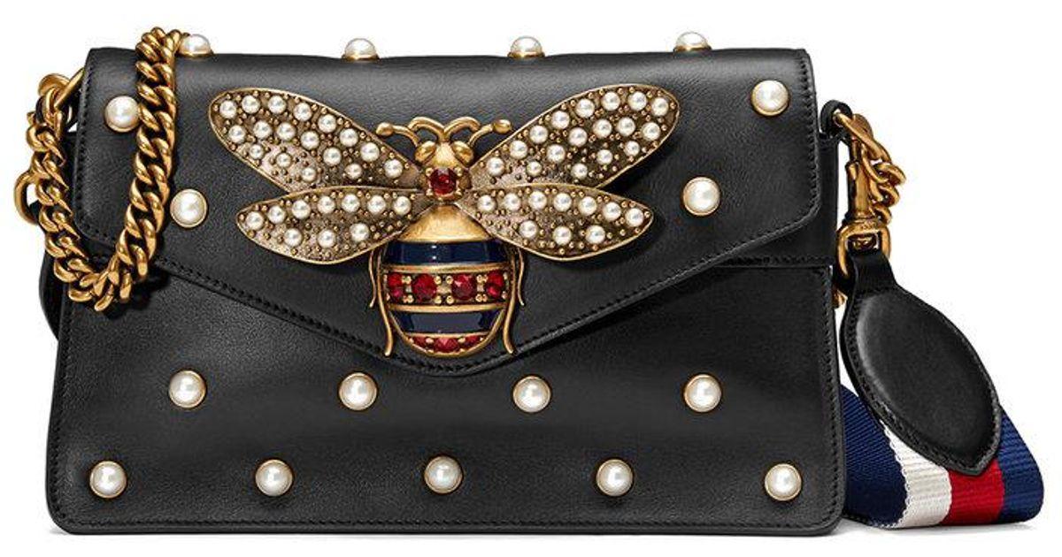 2ceb3eff3b0 Gucci Broadway Leather Mini Bag in Black - Save 20% - Lyst