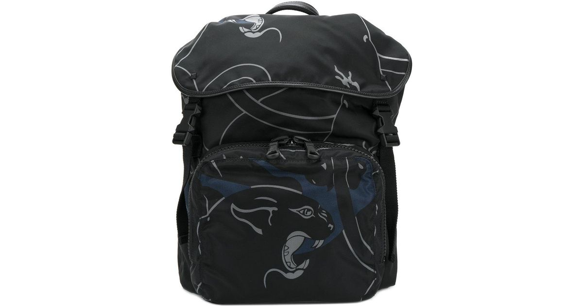 df5c9a41ece2 Valentino Garavani Panther Backpack in Black for Men - Lyst