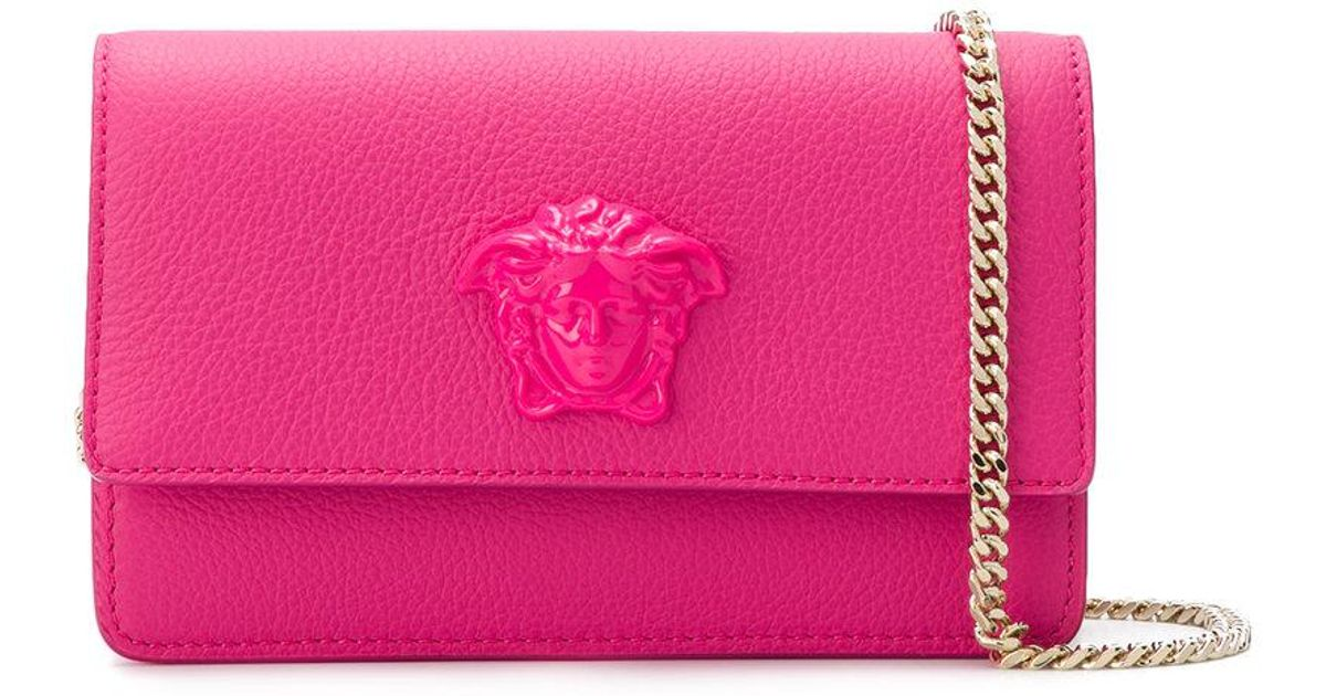 2f77791455 Versace Medusa Empire Clutch in Pink - Lyst
