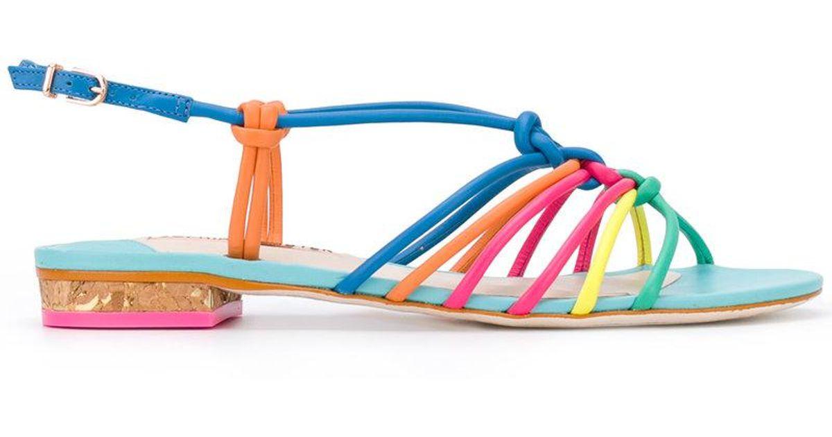 7f8dd66f2bd4 Lyst - Sophia Webster Copacabana Sandals in Blue