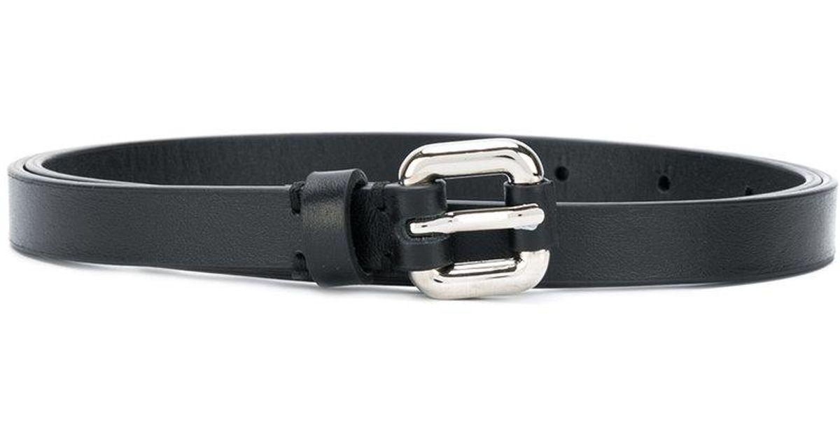 double buckle belt - Black P.A.R.O.S.H. s2au2sZH