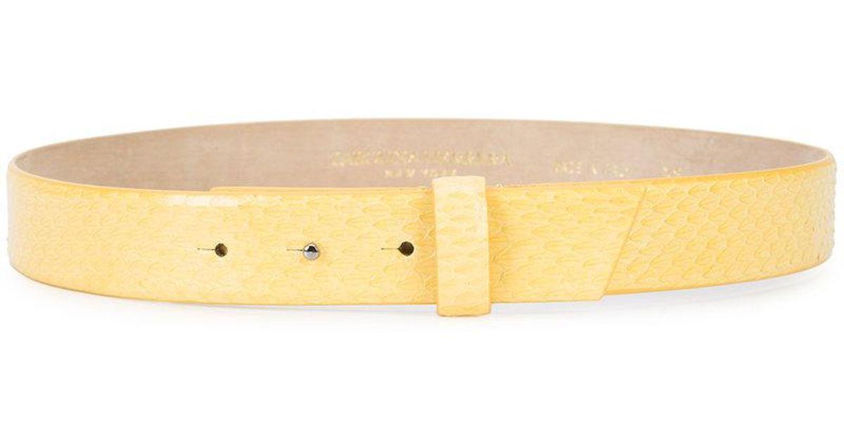classic belt - Yellow & Orange Carolina Herrera WUMfVU3ls