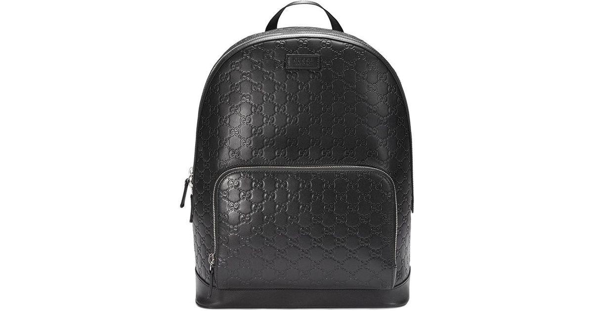 6a3f2d6314a Lyst - Gucci Signature Backpack in Black