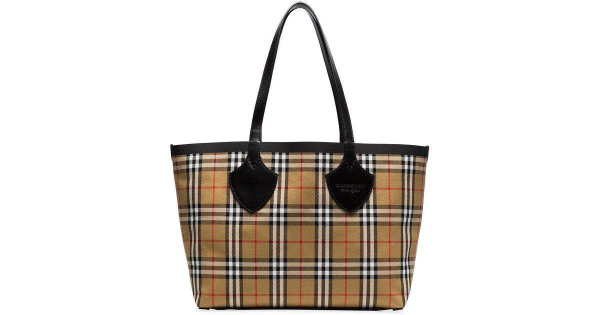nude The Medium Giant cotton vintage check tote - Nude & Neutrals Burberry