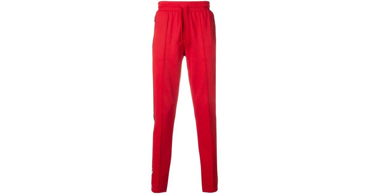b4ca467136e Lyst - Pantalones de chándal con ajuste de cordón Tommy Hilfiger de hombre  de color Rojo