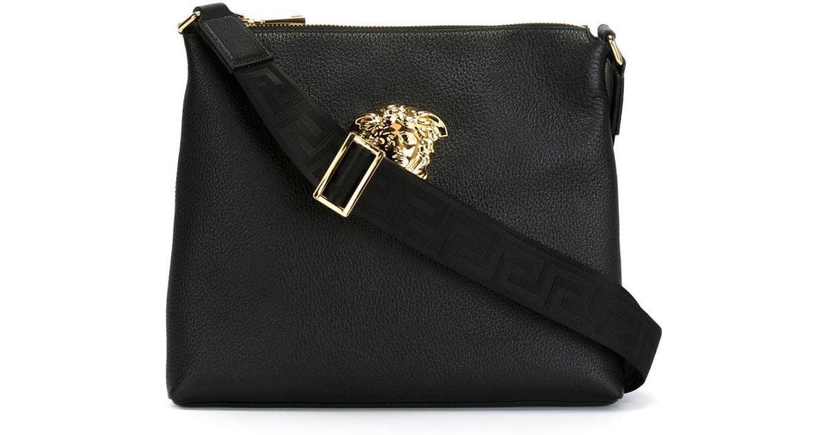 c6dad8d48e04 Lyst - Versace Medusa Messenger Bag in Black for Men