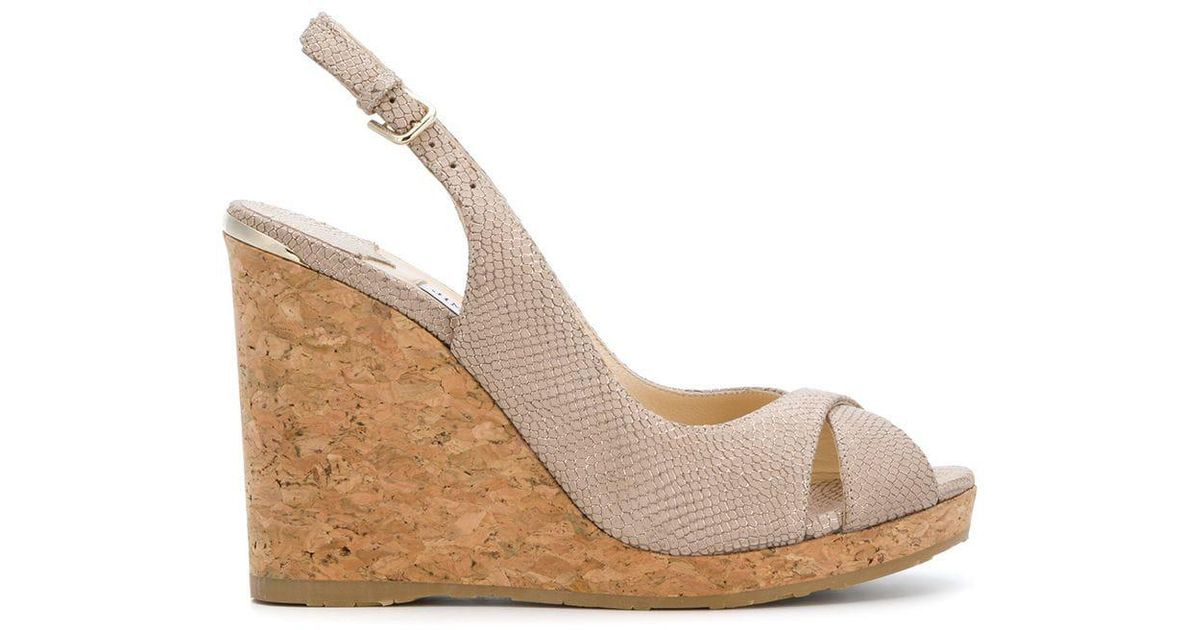 515493dae42 Jimmy Choo Amely 105 Sandals in Pink - Lyst