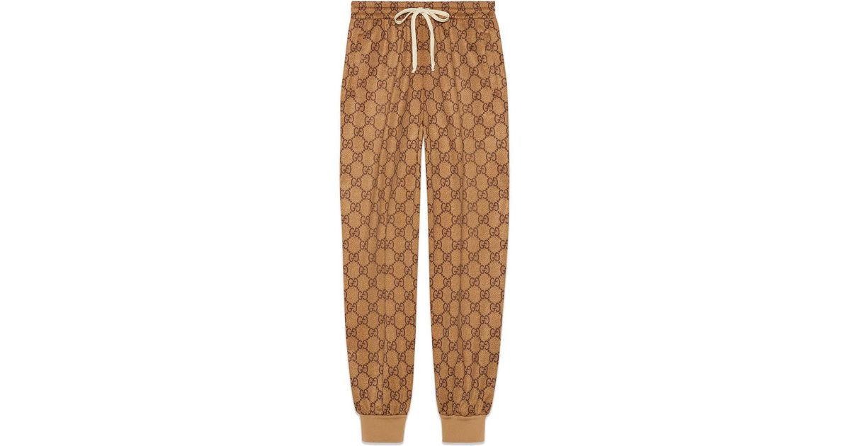 cbacffd16fa54 Lyst - Gucci GG Technical Jersey jogging Pant in Brown - Save 23%