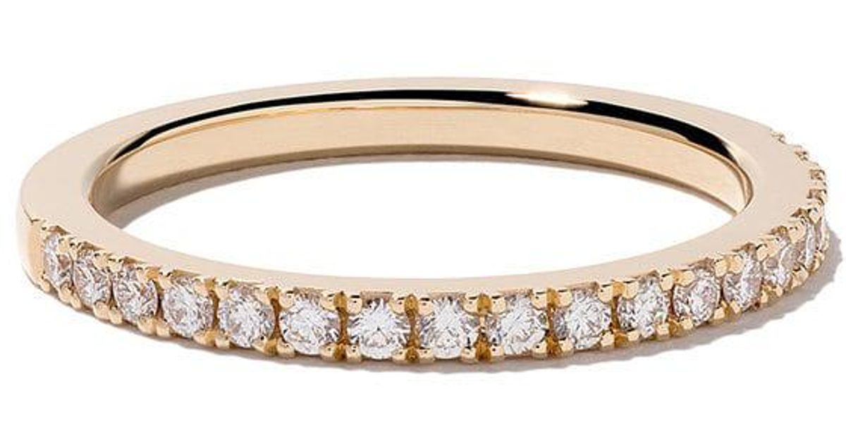 5f74eab57873 De Beers 18kt Yellow Gold Db Classic Half Pavé Diamond Band in Metallic -  Lyst