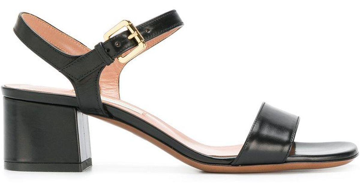 3dd66e79304 Lyst - L Autre Chose Low Block Heel Sandals in Black