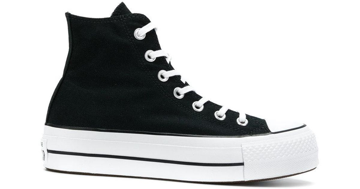 e68d075bdfba Lyst - Converse Lift Hi-top Platform Sneakers in Black