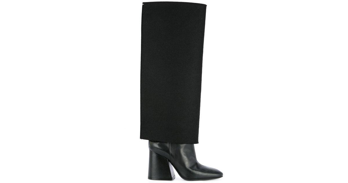 b32b87941da Lyst - Maison Margiela Trompe L oeil Knee High Boots in Black