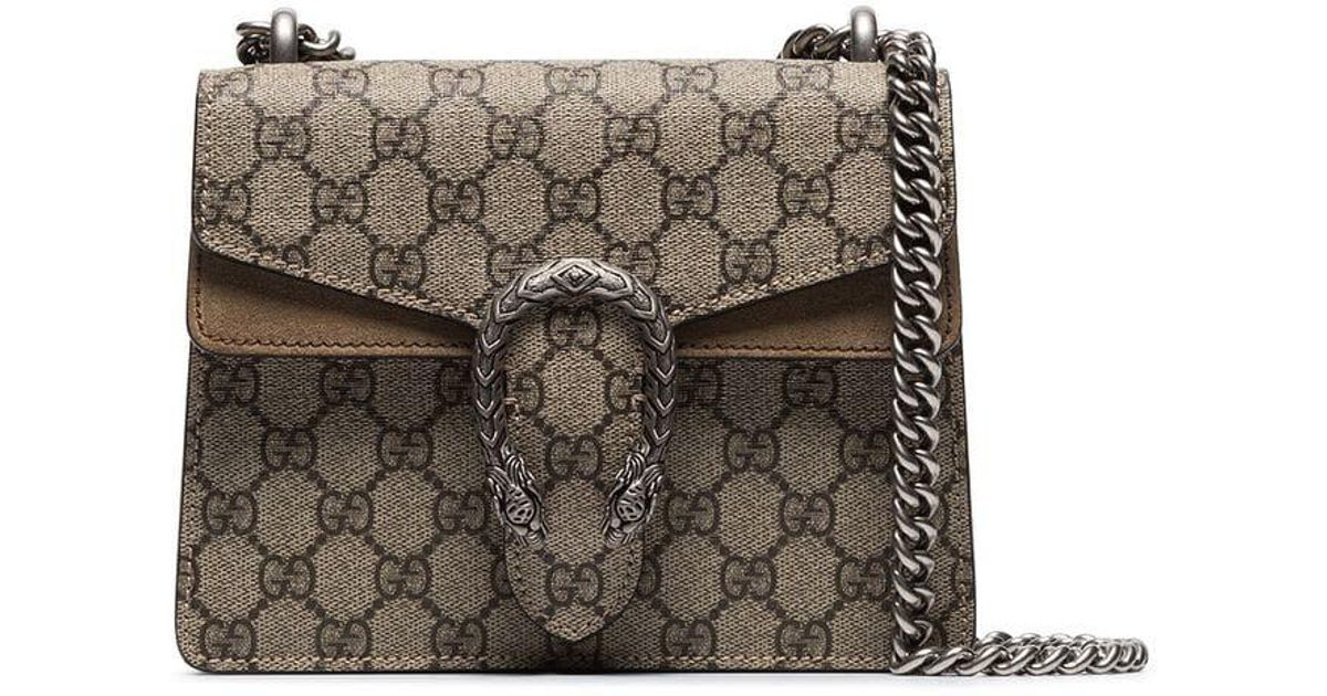 610197deeab Gucci Multicoloured Dionysus Mini GG Supreme Canvas Shoulder Bag - Lyst
