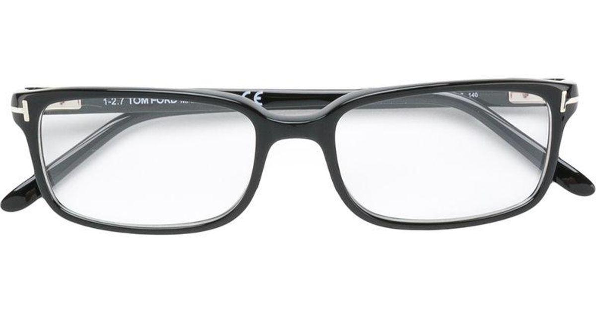 Tom Ford Rectangle-frame Glasses in Black for Men - Lyst