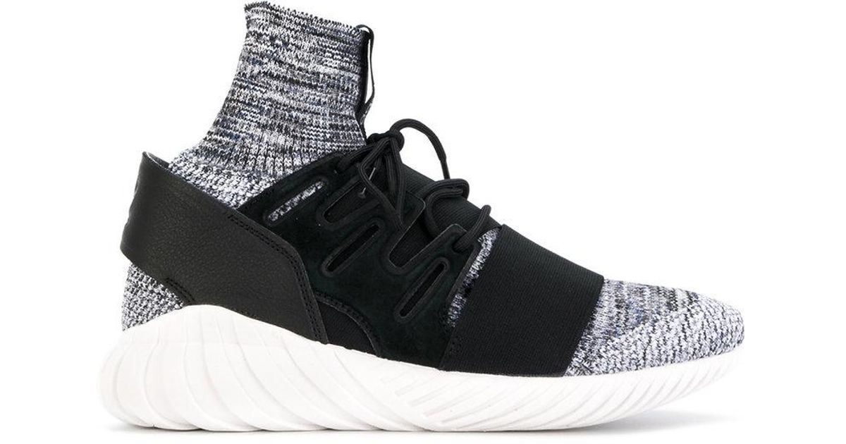 official photos 10d7f ac7b5 Adidas - Black Tubular Doom Primeknit Sneakers for Men - Lyst