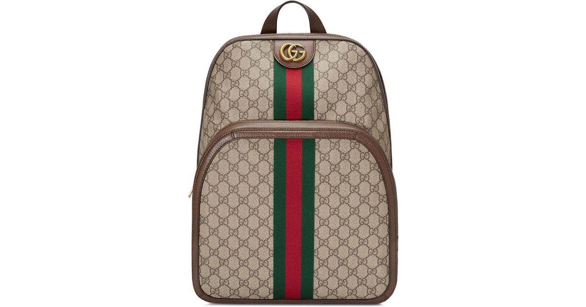 c586d5869 Mochila Ophidia GG mediana Gucci de hombre de color Marrón - Lyst