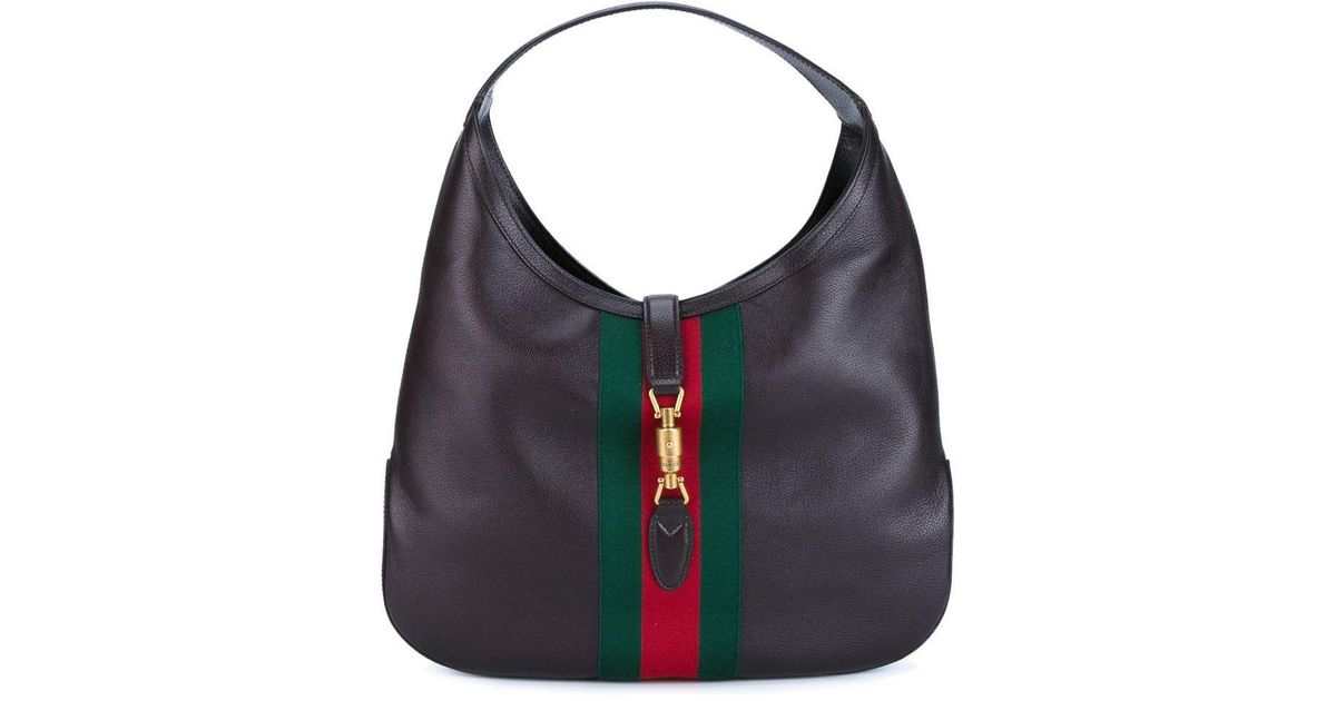 70146576c3af Lyst - Gucci Jackie Soft Leather Hobo Bag in Brown - Save 6%