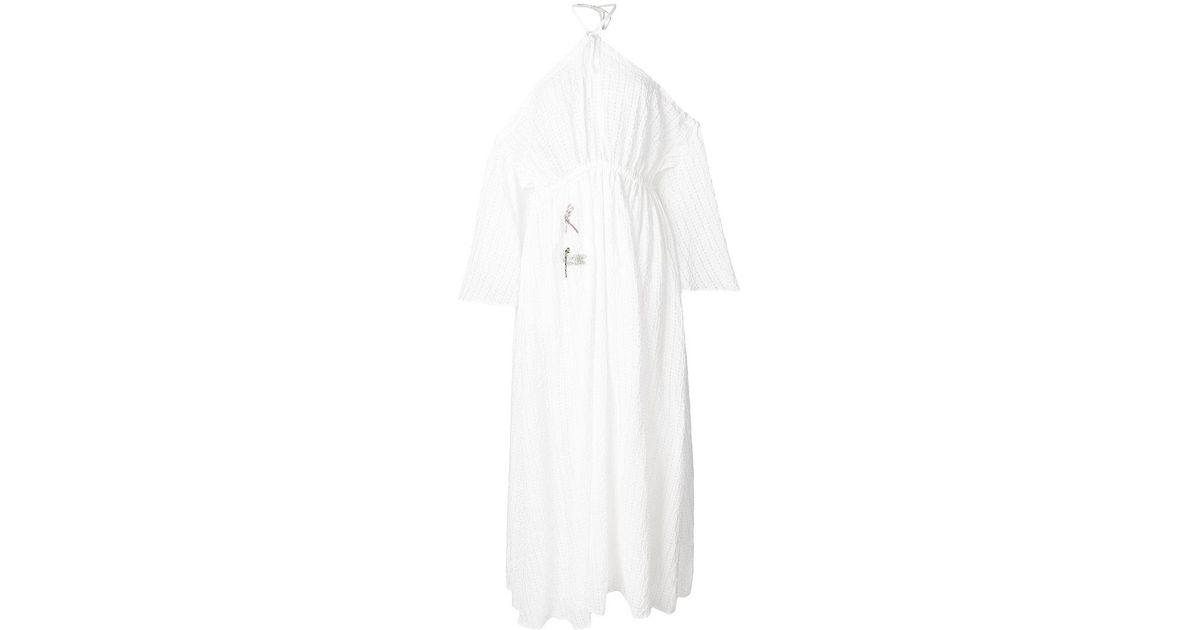 halterneck dragonfly patch dress - White Vivetta VH1x5y10x