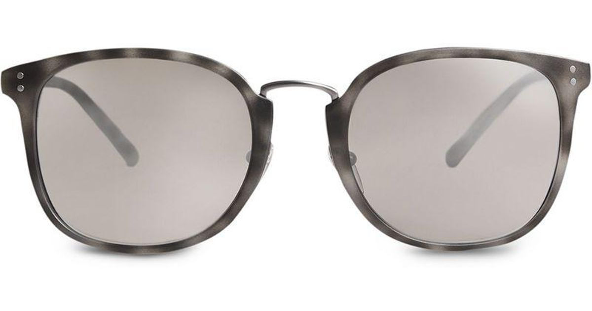 0e76717bcb Burberry Square Frame Acetate Sunglasses in Gray for Men - Lyst