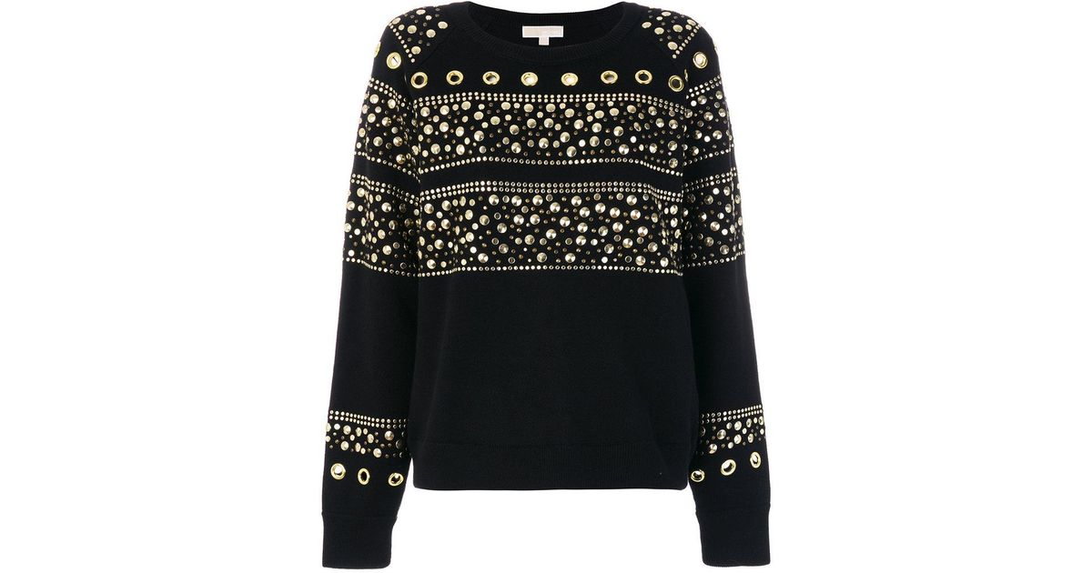 be845359857 MICHAEL Michael Kors Studded Sweatshirt in Black - Lyst