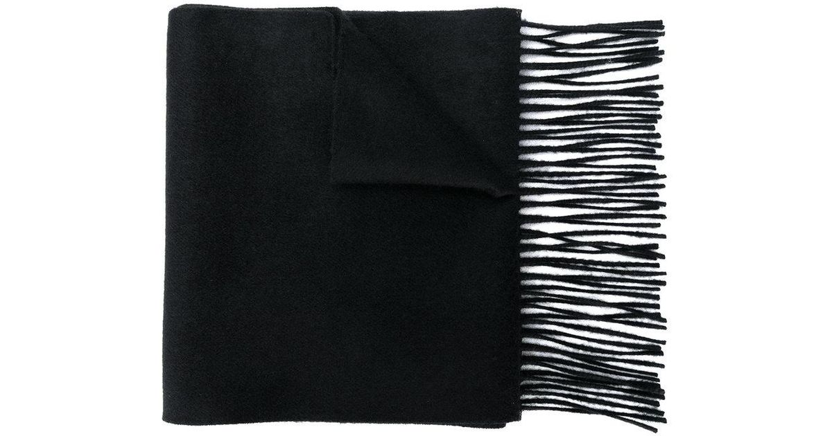Lyst - Écharpe Guccy à bords frangés Gucci en coloris Noir 8f1eb74cb22