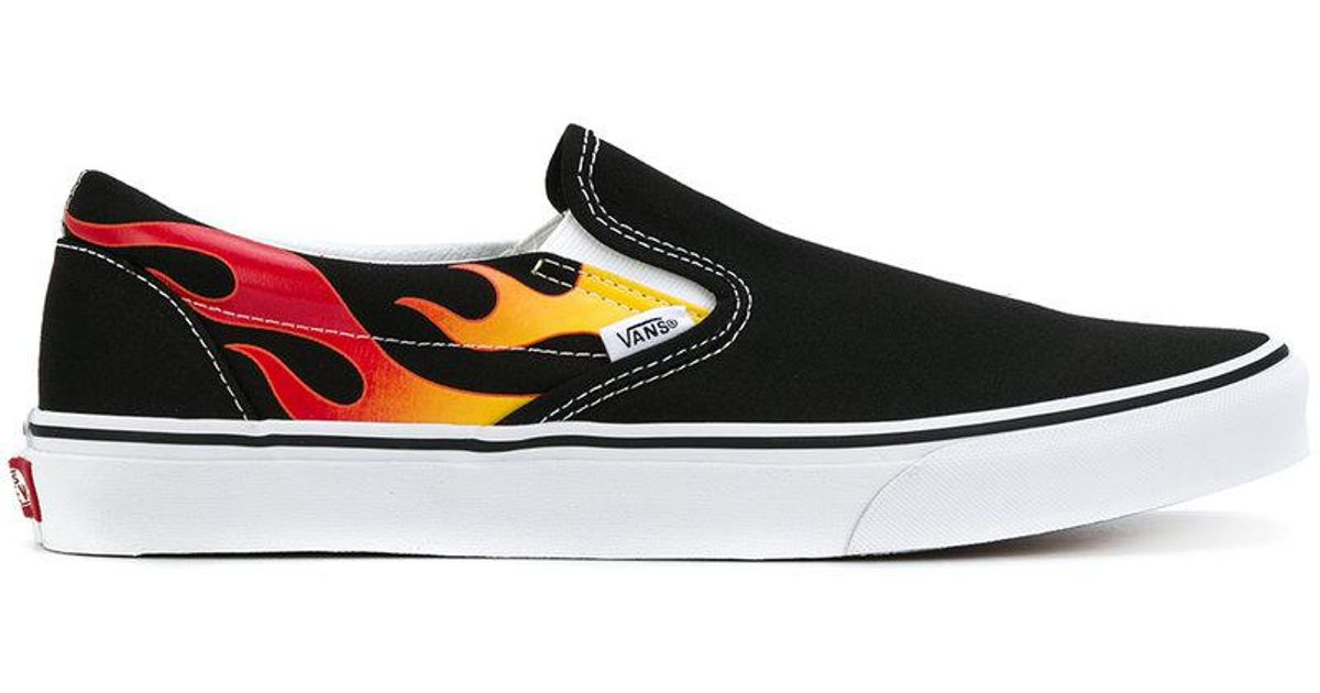 vans flame slip on