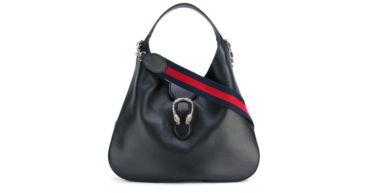 967983141e89c1 Gucci Slouch Shoulder Bag in Black - Lyst