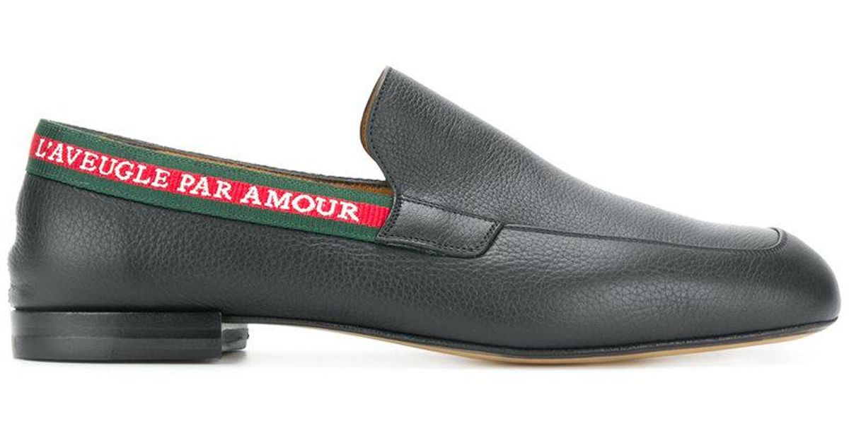 1ce84210433 Lyst - Gucci L aveugle Par Amour Loafers in Black for Men - Save 62%