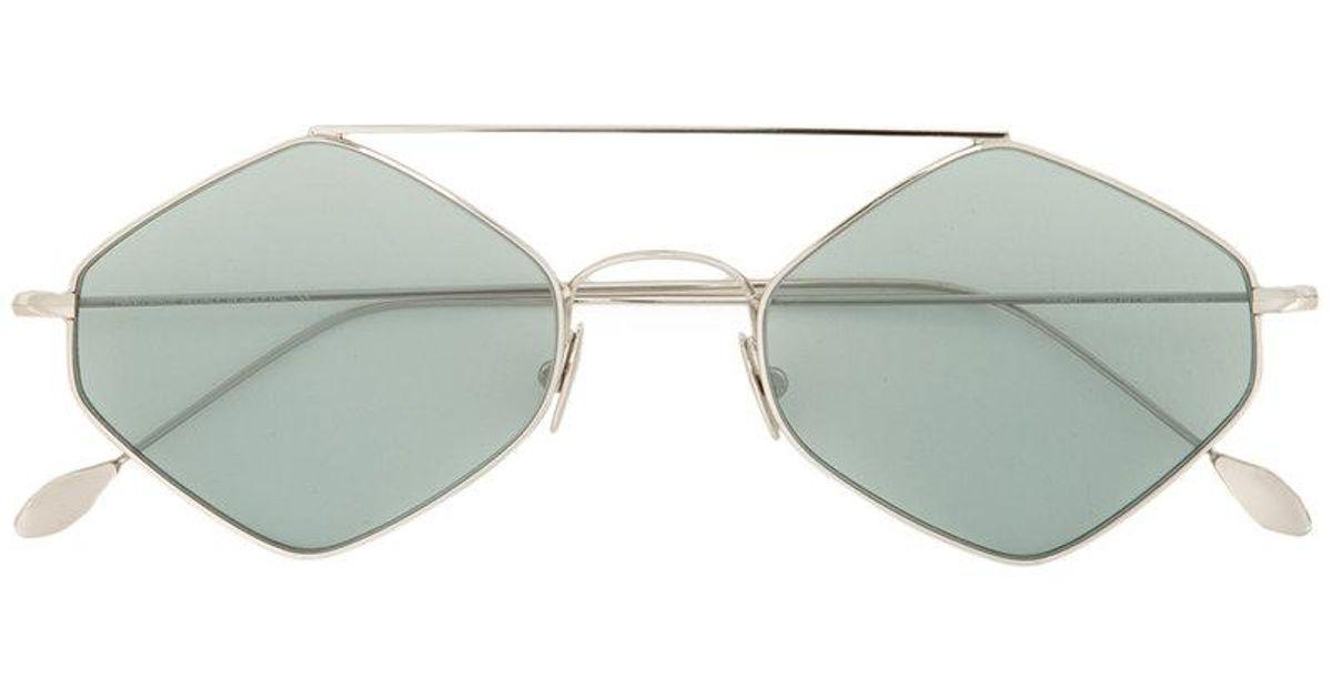 Lyst - Spektre Hexagon Frame Sunglasses in Green