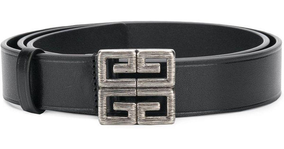 f7ebd5696e5 Lyst - Ceinture à boucle logo 4G Givenchy pour homme en coloris Noir