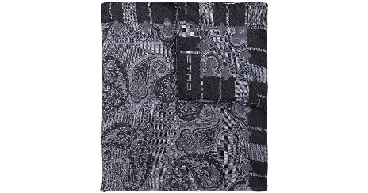 Lyst - Écharpe à motif cachemire Etro pour homme en coloris Gris 5b4d118a9f2a