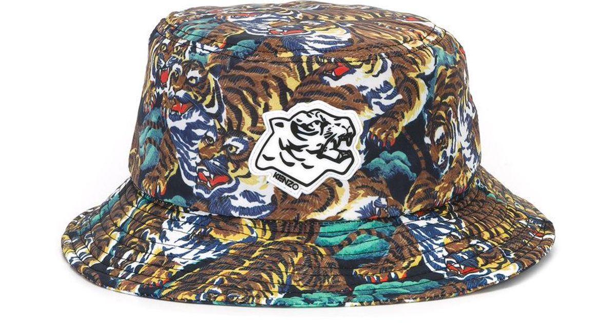 8aaadabf3a9 KENZO Flying Tiger Bucket Hat - Lyst
