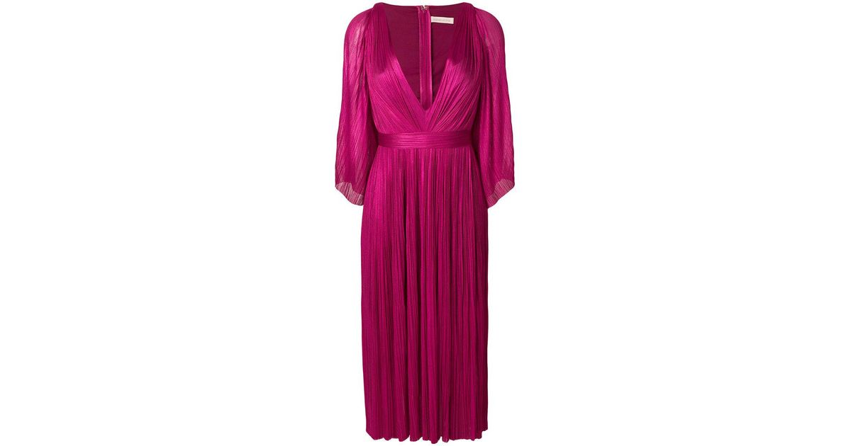 Lur plunge pleated dress - Pink & Purple Maria Lucia Hohan 1YISCT2p6w