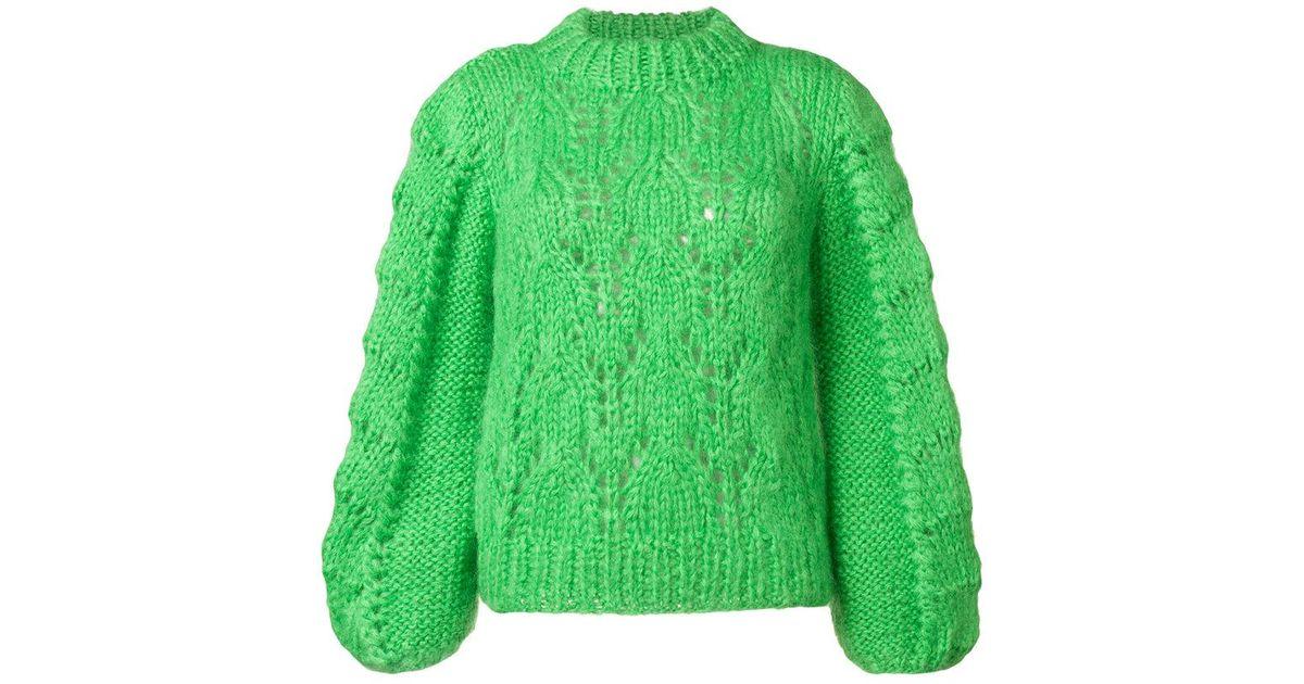 ded5ed26b8fb5 Lyst - Ganni Loose Knit Sweater in Green