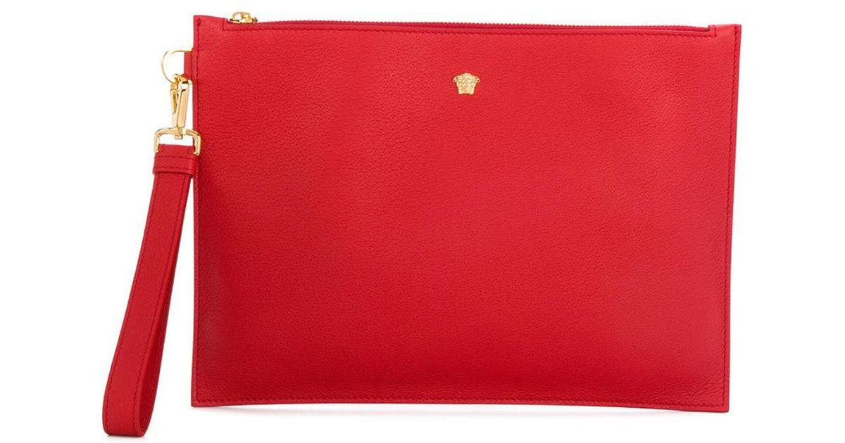 b7e1dc05 Versace - Red Medusa Clutch Bag - Lyst