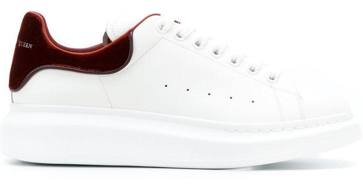 0639b714b7fbe5 Lyst - Alexander McQueen Oversized Sneakers With Velvet Detail in White for  Men