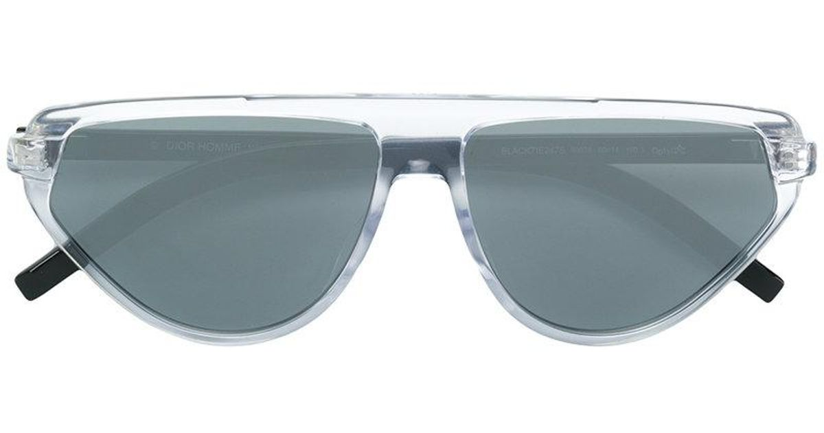 4a631bcb22fa3 Lyst - Dior Black Tie Sunglasses in White for Men