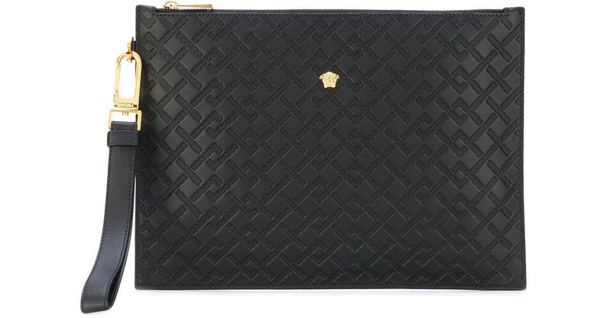 1b07596997 Lyst - Versace Medusa Clutch Bag in Black for Men