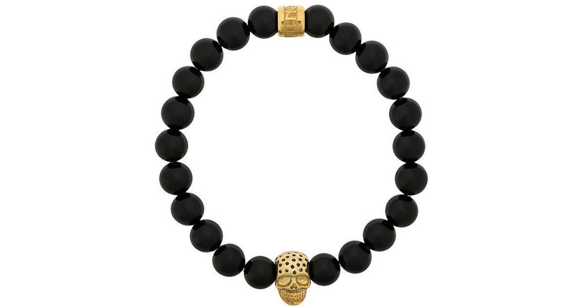 Northskull skull charm bracelet - Black AT918