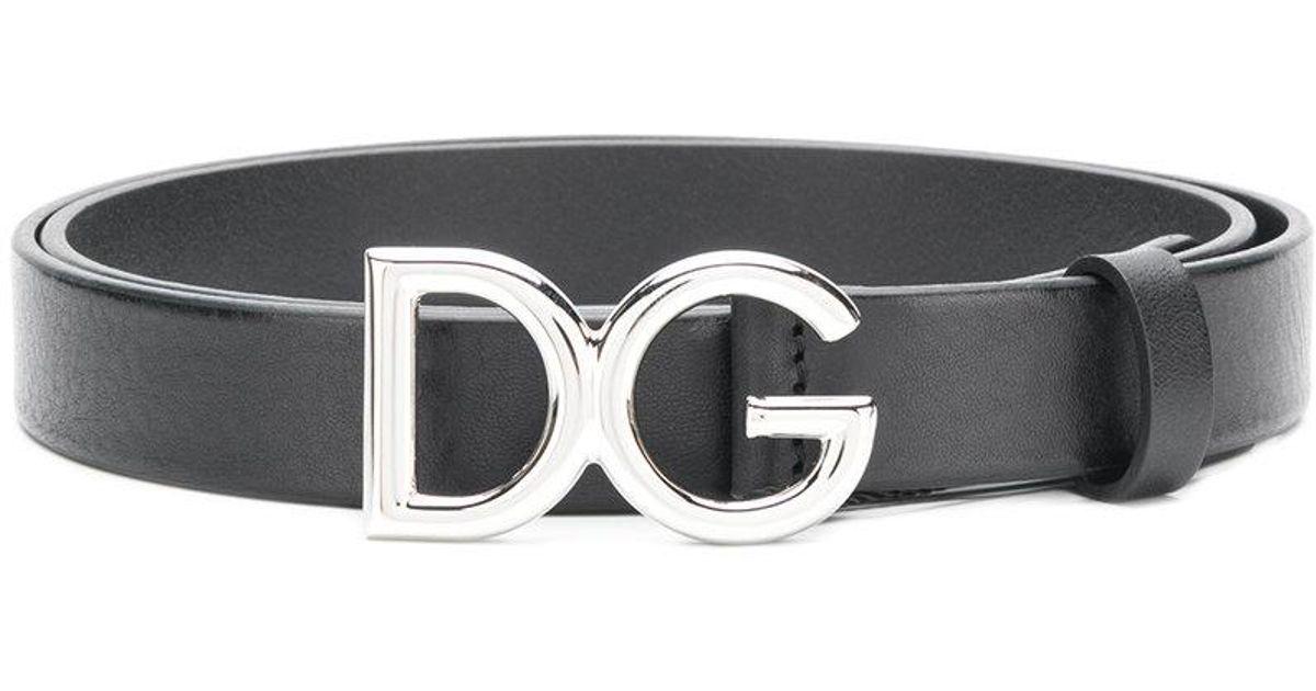 5dcc5505cc ... czech dolce gabbana dg millennial logo belt in black for men lyst da067  9d7cb